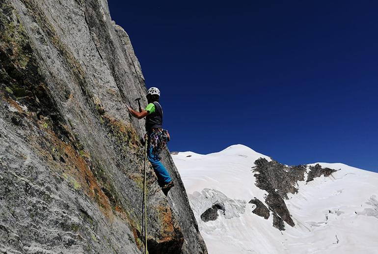 Kletterer beim Aufstieg